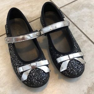 Naturino sparkle black & silver girl Mary Janes